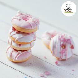Mini Donuts rosas x 12