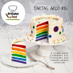 TARTA ARCO IRIS 8 raciones