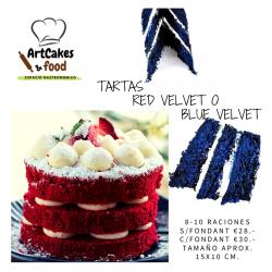 TARTA Red ó Blue Velvet ArtCakes
