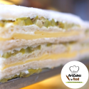 Sandwiches de miga Queso y Aceitunas