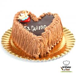 Tarta San Valentín Africana