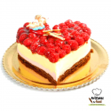 Tarta San Valentín Semifrío Fresas