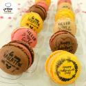 Macarons San Valentín caja 4 uds variados