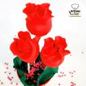 Cakepops Rosas rojas